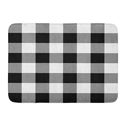 (colory Doormats Bath Rugs Outdoor Mat Buffalo Lumberjack Plaid Pattern Check Casual Checkered Flannel Jacket Bathroom Rug 23.6