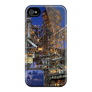 First-class Cases Covers For Iphone 4/4s Dual Protection Covers Space Shuttle At Night