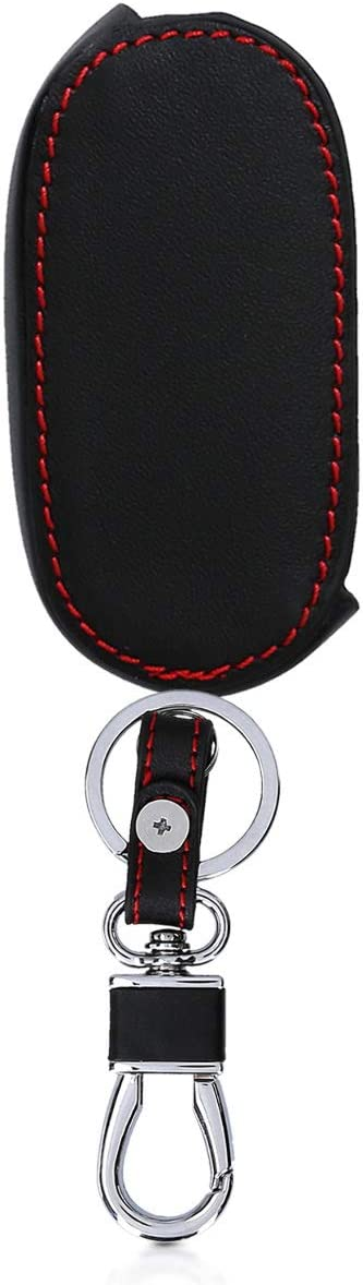 Heavy Duty PU Leather Protective Key Fob Cover for Fiat Lancia 3 Button Car Flip Key kwmobile Car Key Cover for Fiat Lancia Italy Green//Red//White