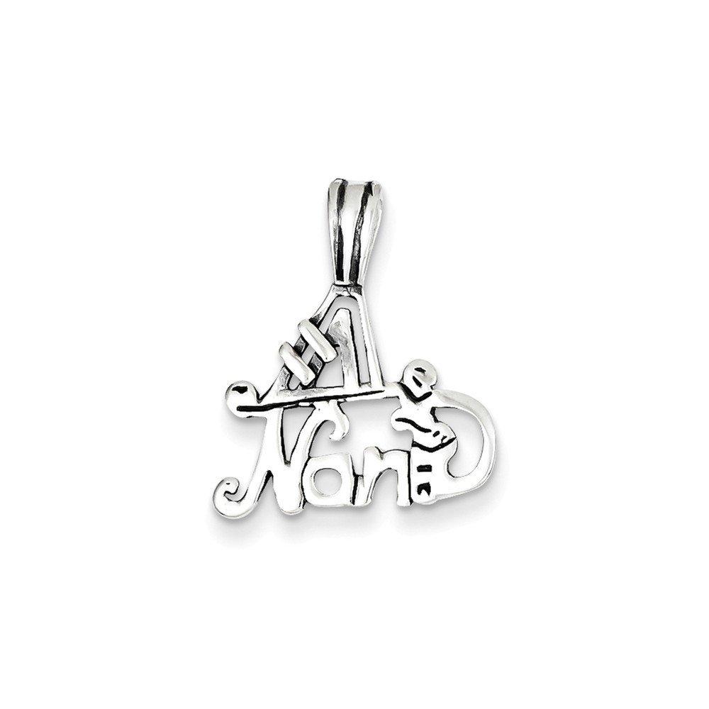 .925 Sterling Silver #1 Nana Charm Pendant