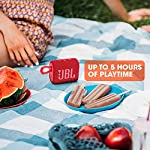 JBL Go 3, Wireless Ultra Portable Bluetooth Speaker, JBL Pro Sound, Vibrant Colors with Rugged Fabric Design, Waterproof…