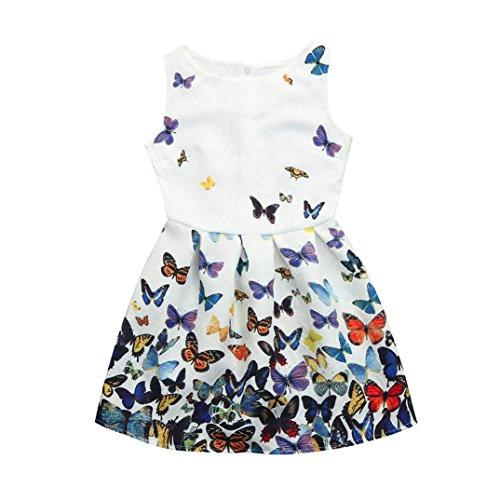 2-3 years, blue Internet/_Kids Clothes Girls Dress For 1-5Years,❤️Internet Baby Girls Dress Short Sleeve Cartoon Pattern Tops T-Shirt Blouse