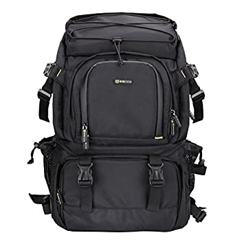ca34d29c81 Evecase Extra Large Professional DSLR Camera   Laptop Travel Backpack  Gadget Bag w Rain Cover