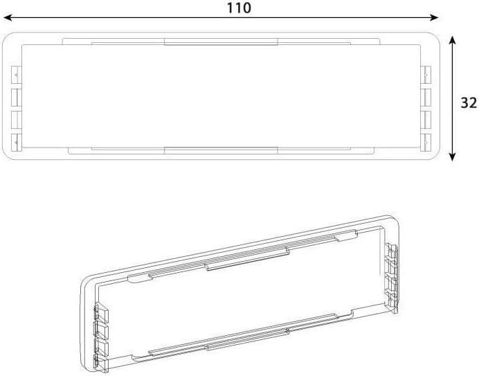 Decayeux 3015827212915 Porte Nom Boite Norme Ptt Transparent Amazon Fr Bricolage