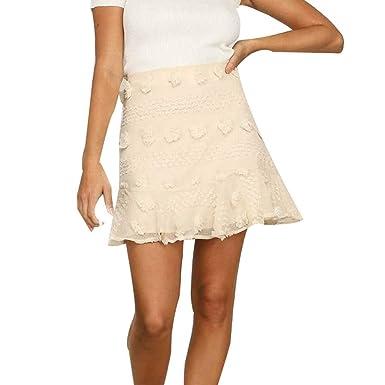 Vectry Faldas Mujer Cintura Alta Minifalda Plisada Cintura Delgada ...