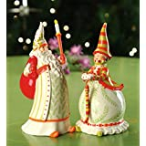 Patience Brewster Krinkles Santa and Mrs. Claus Salt & Pepper Shaker Set
