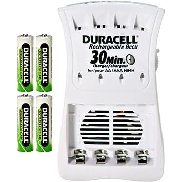 Amazon.com: Duracell cef90nc 30 minutos Cargador con 4 pilas ...