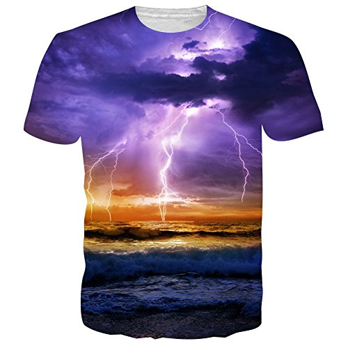 UNIFACO Unisex 3D Printed Crewneck Short Sleeve T-Shirt Top Tees