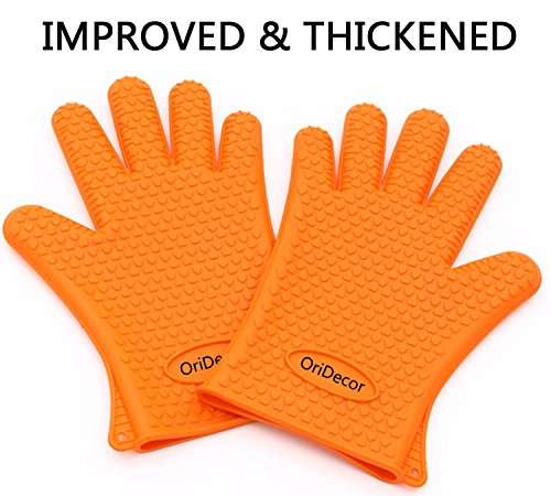 Improved Thickened Silicone Gloves [ 1 PAIR ] OriDecor Fo...