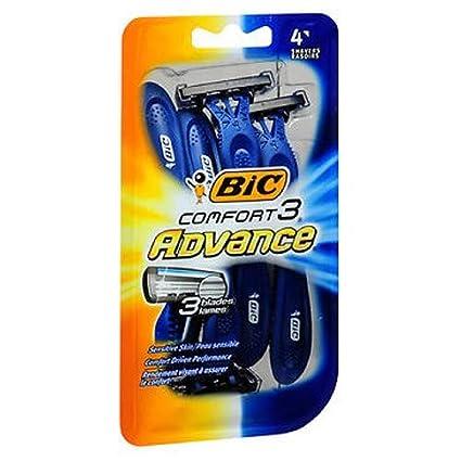 Bic Comfort 3 Advance Disposable Razor For Men 4 Count