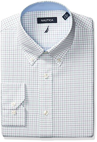 Nautica Mens Tattersal Buttondown Collar Dress Shirt