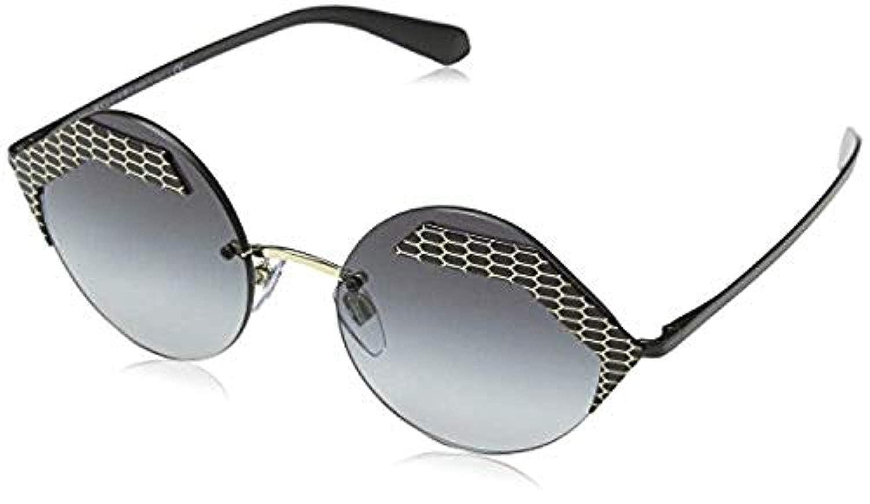 016a690aa9b Amazon.com  Bundle  Bvlgari Women s BV6089 Matte Black Pale Gold Grey  Gradient 55mm  Clothing