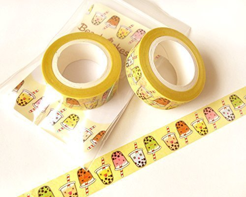 Cute Bubble Tea Washi Tape: Kawaii Washi Tape, Scrapbook Decoration, Kawaii Masking Tape, Planner Decoration, Paper Tape, Gift Wrapping, 10M