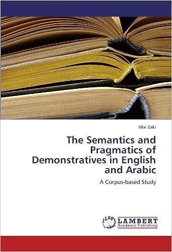 Amazon com: The Semantics and Pragmatics of Demonstratives