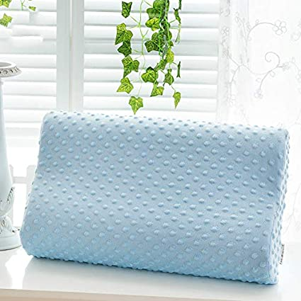 KIPBMemory Pillow Cervical Spine Health Pillow Slow Rebound Space Memory Cotton Adult Neck Pillow Pillow Sleep Pillow Sleep Pillow 40 x 25 x 5//7cm Bamboo Fiber//Wave Pillow