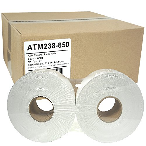 (ATM Paper 2-3/8 x 850, 55g, Sealed 8 Rolls Triton 9100 9600 9700 RL1600)