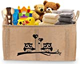 Gimars X-Large Well Standing 26″ Toy Chest Baskets Storage Bins for Dog Toys, Kids & Children Toys, Blankets, Clothes – Perfect for Playroom & Shelves