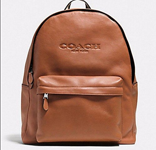 COACH MEN'S Soft Grain LEATHER CAMPUS BACKPACK BAG F72120 Saddle