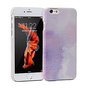 funda iPhone 6, GMYLE Complemento cubierta brillante carcasa case para iPhone 6 - Patrón de Color de agua