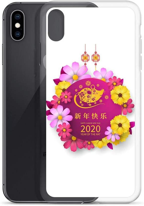Compatible for iPhone 6//6s Cases Chinese Lunar New Year of The Rat Floral Mouse Lanterns Anti Bumps Scratches