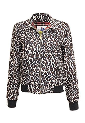Femme Leopard Harrington Marron Marron Blouson TYOqqnU0B