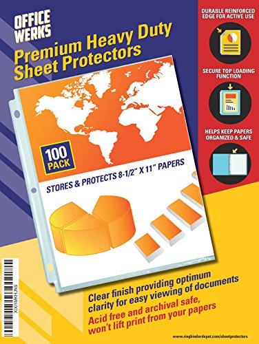 (Heavy Duty Clear Sheet Protectors, 8.5