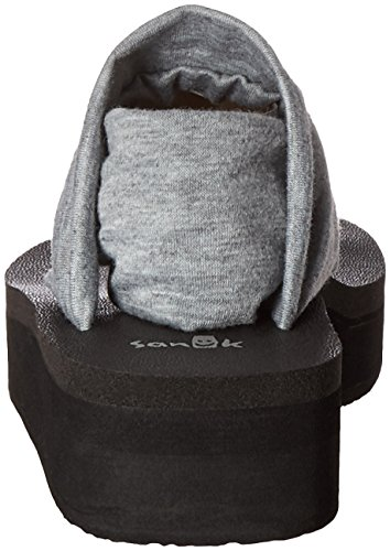 Sling Women Sanuk Wedge Yoga Flop Grey Heather Flip xRZCw4CEdq