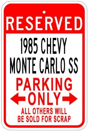 Chevy Monte Carlo Ss Aluminum Parking Sign - 12 X 18 Inches ()