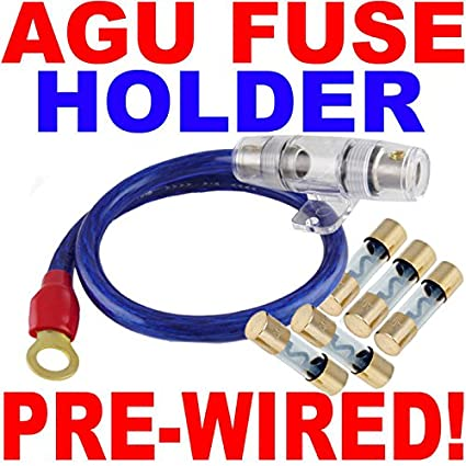 5175C2E7XkL._SX425_ amazon com 4 gauge agu fuse holder 5 pack of gold 80 amp fuses