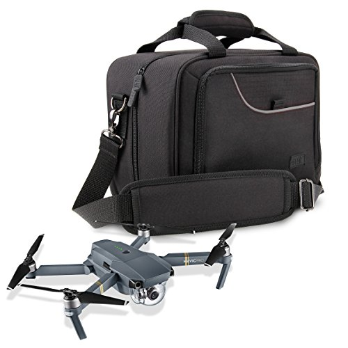 Price comparison product image Drone Carrying Case for DJI Mavic Pro ,  Spark Mini & Mavic Air with Strap ,  Adjustable Dividers ,  and Storage Pockets by USA Gear - Fits Drone ,  Controller ,  Batteries ,  Propellers and More