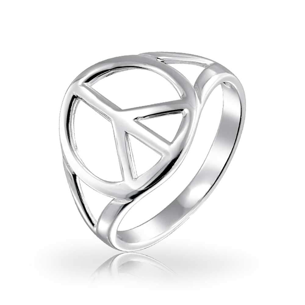 Amazon.com: Bling Jewelry Símbolo de la Paz Abierto símbolo ...