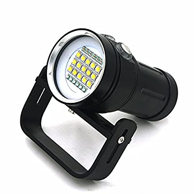 vidéo plongée lampe de poche Lanterne 15000lumen 10x CREE XM-L2lumière blanc + 4x lumière rouge + 4x lumière bleue LED Underwater Video plongée lampe de poche