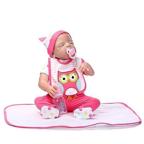 48 cm Cute Reborn Doll Mat realista recién nacido dormir ...