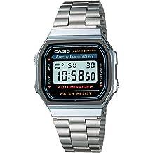 Casio Men's Electro Luminescence Digital Bracelet Watch Grey A168W-1