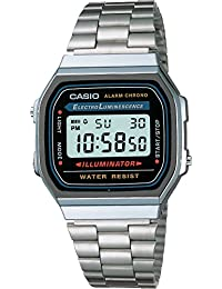 Casio Men's Electro Luminescence Digital Bracelet Watch Grey A168W-1