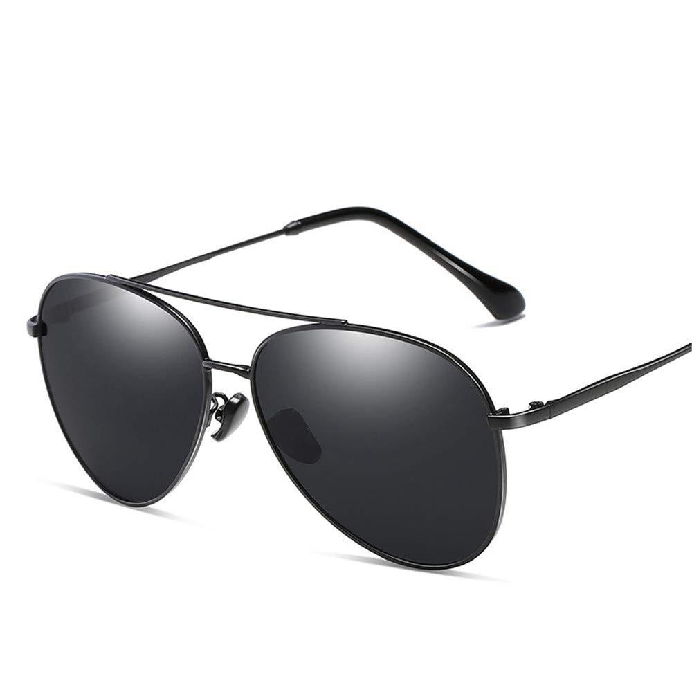YFFS Men's and Women's Sunglasses Metal Sunglasses Driver Frog Mirror Sunglasses TAC Hd Polarized Lens (Color : Black)