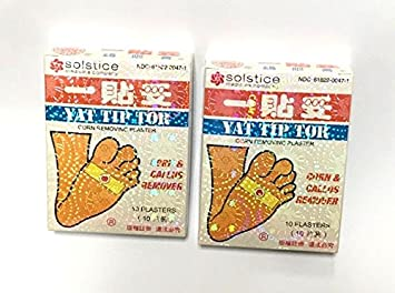 Amazon com: 2 X Yat Tip Tor Corn & Callus Removing Plaster