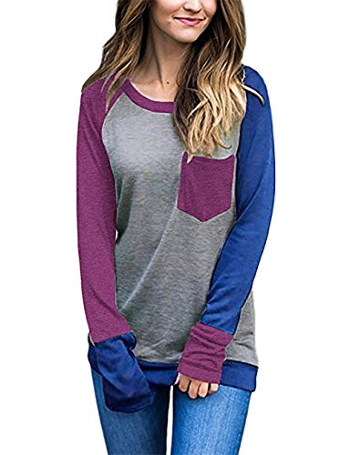 Banded Bottom Legging (Tunics for Women to Wear with Leggings,EMVANV Banded Bottom Tops for Womens Tunics for Ladies Long Shirts Fall Sweatshirts Knit Shirt Wine Blue XX-Large)