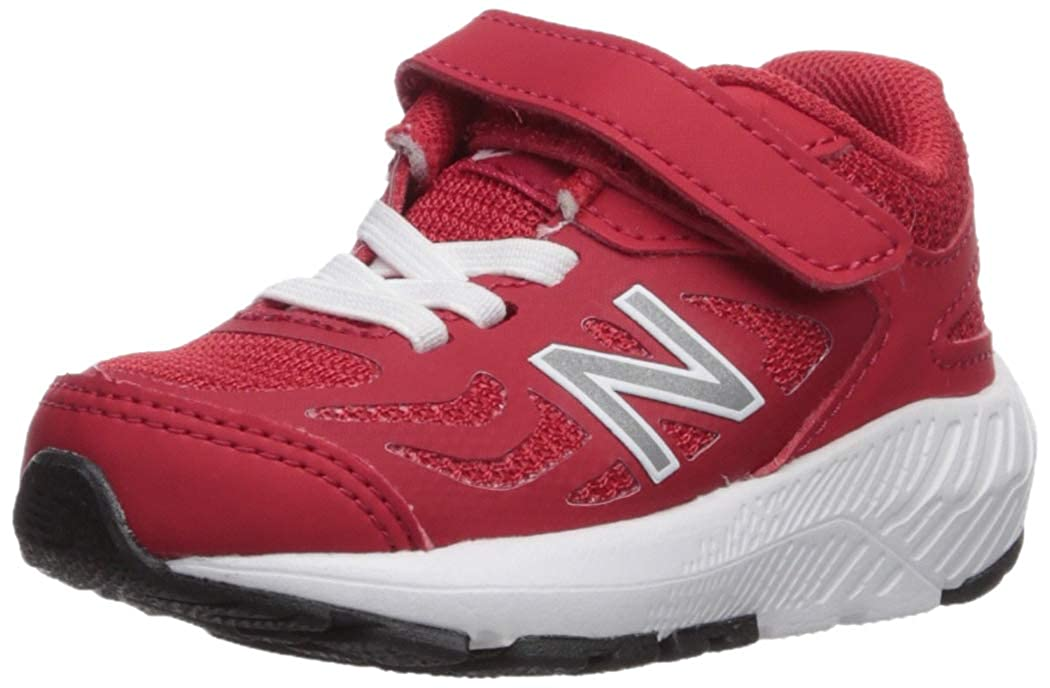 Team Red White 6.5 Toddler New Balance Girls 519v1 Hook and Loop Running shoes