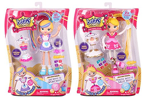 [Gift Ideas for Girls Betty Spaghetty Season 1 Bundle includes Chef/Cupcake and Princess/Ballet] (Mix N Match Dance Costume)