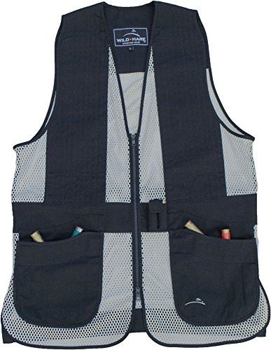Wild Hare Shooting Gear WH-421S-BS-L Primer Shooting Vest Primer Mesh Shooting Vest, Silver/Black, - Hare L