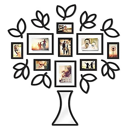 Amazon Wallverbs Open Leaf Tree 19 Piece Picture Frame Set