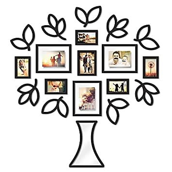 Amazoncom Wallverbs Open Leaf Tree 19 Piece Picture Frame Set