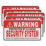 5Pcs Self-adhensive Camera CCTV Sticker Safty Signs Decal Protected by 24 Hour Security