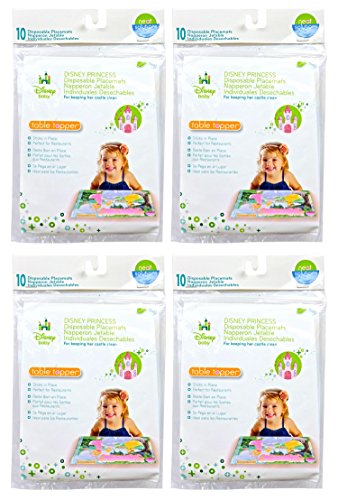 Neat Solutions Disney Princess Table Topper Disposable Stick-on Placemats - 40 - Princesses Dining Disney