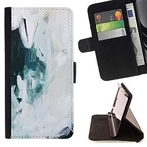 """For Samsung Galaxy E5 E500,S-type Arte Pintura al óleo Hielo Nieve"""" - Dibujo PU billetera de cuero Funda Case Caso de la piel de la bolsa protectora"""
