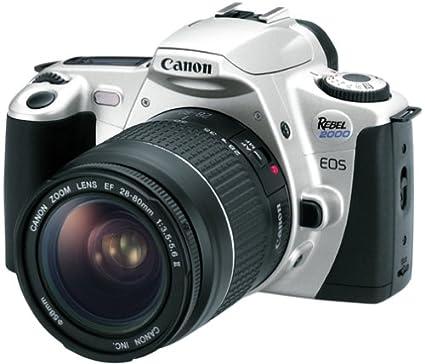 amazon com canon eos rebel 2000 35mm film slr camera kit with 28 rh amazon com canon eos rebel 2000 user manual Canon EF 75-300Mm Lens