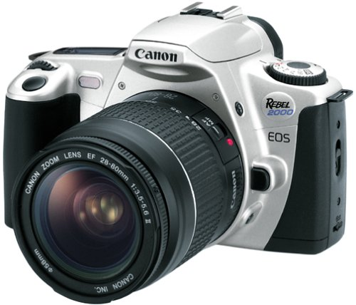 Canon EOS Rebel 2000 35mm Film SLR Camera Kit with 28-80mm Lens Canon Eos Rebel 35 Mm Camera