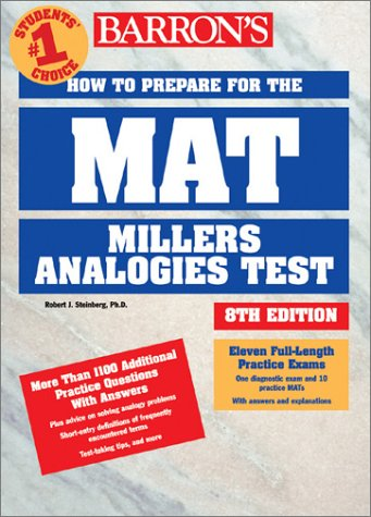 Pdf Test Preparation Barron's How to Prepare for the Mat: Miller Analogies Test