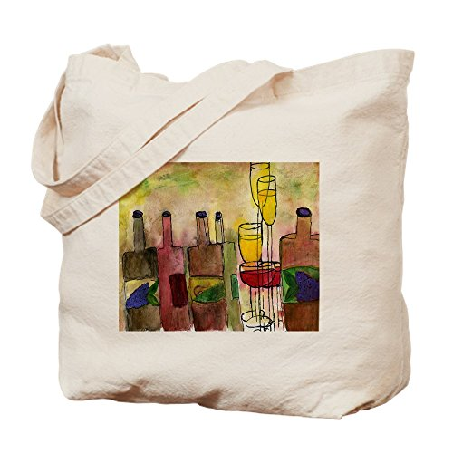 CafePress - Tuscany - Natural Canvas Tote Bag, Cloth Shopping Bag (Tuscany Tote Wine)